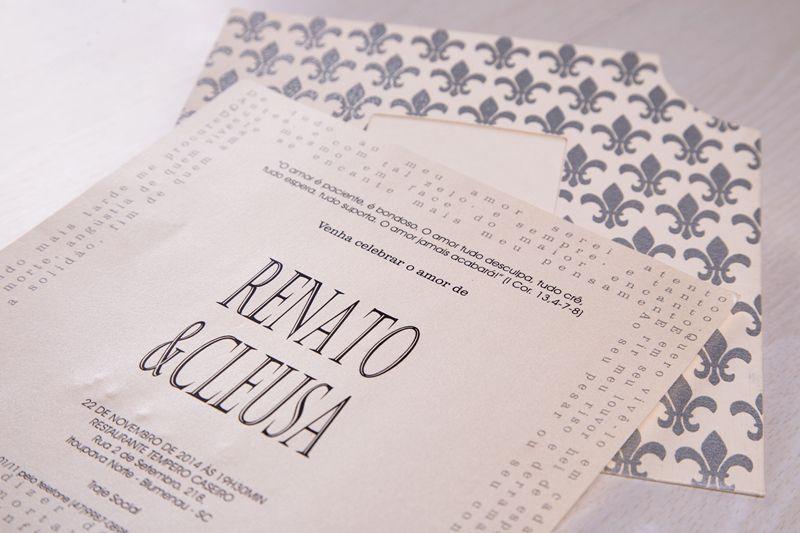 Convite Cleusa e Renato