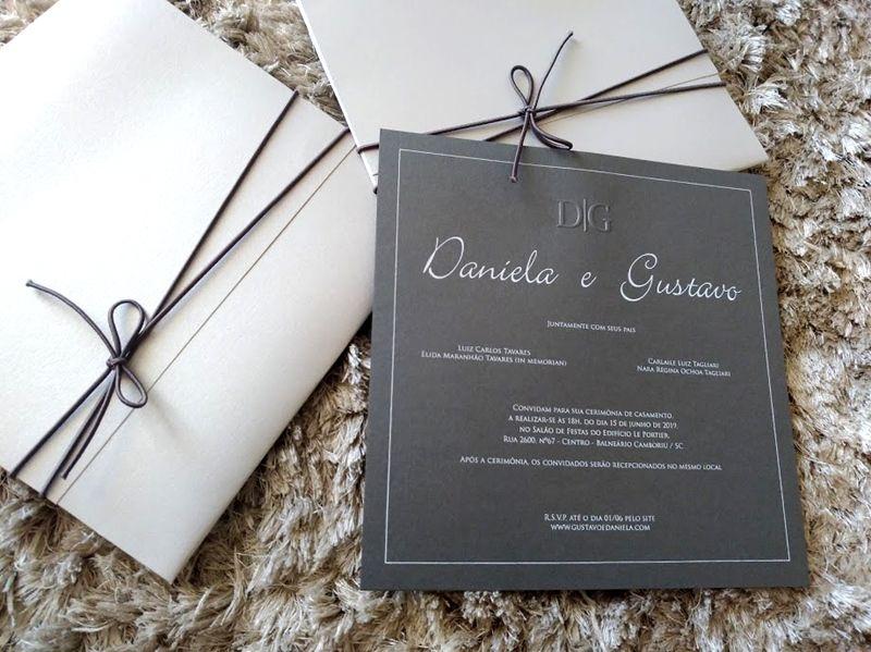 Convite Daniela e Gustavo