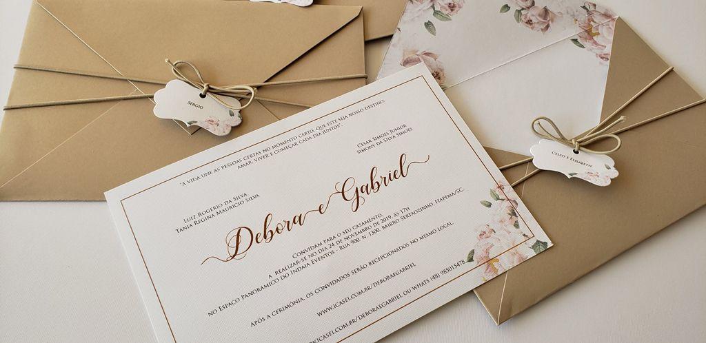 Convite Débora e Gabriel