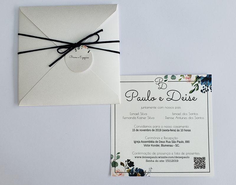 Convite Deise e Paulo