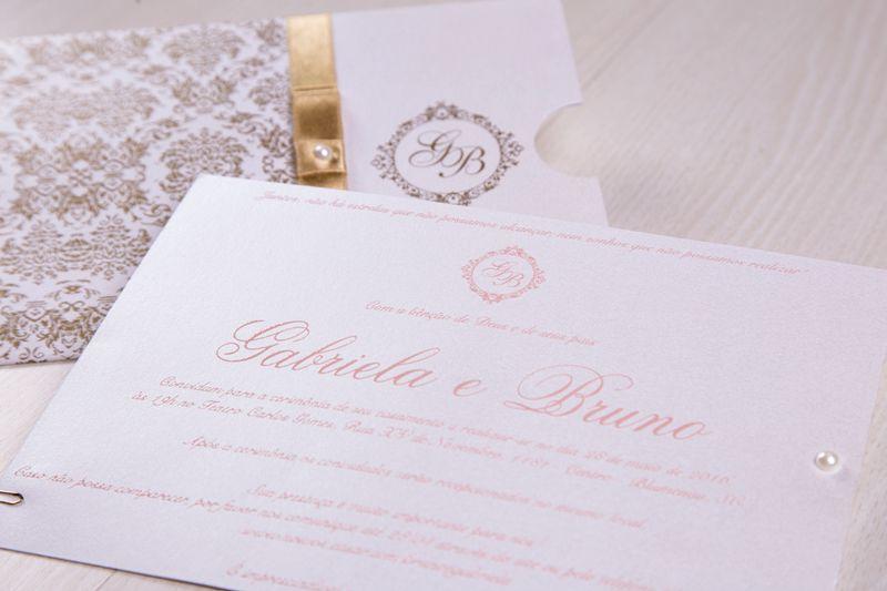 Convite Gabriela e Bruno