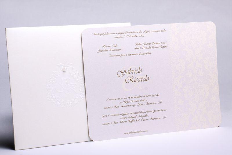 Convite Gabriele e Ricardo