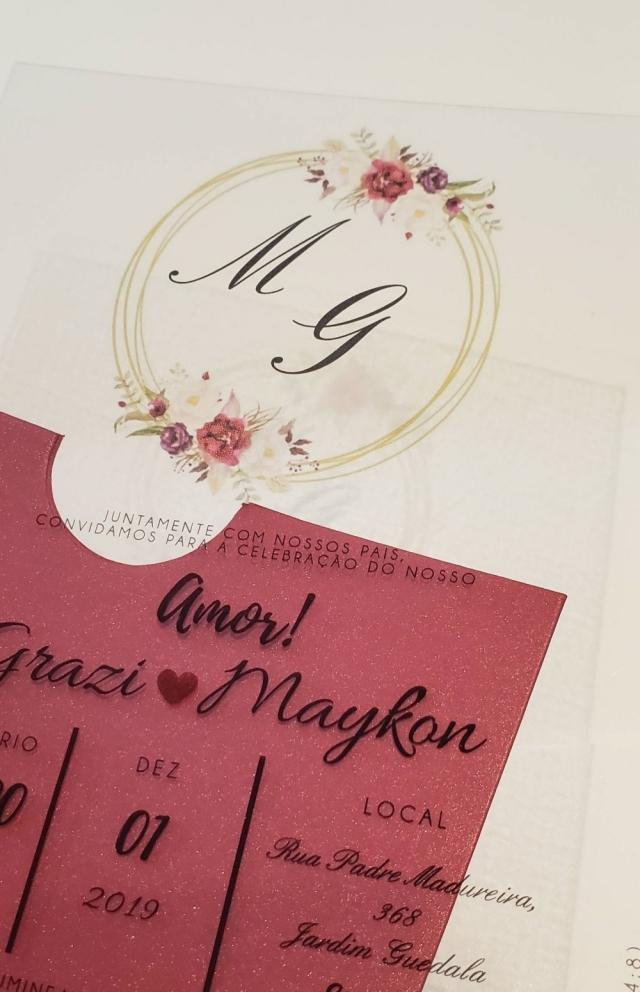 Convite Grazi e Maykon