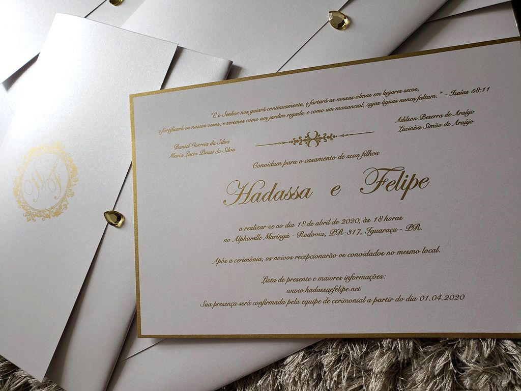 Convite Hadassa e Felipe