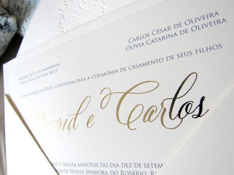 Convite Ingrid e Carlos