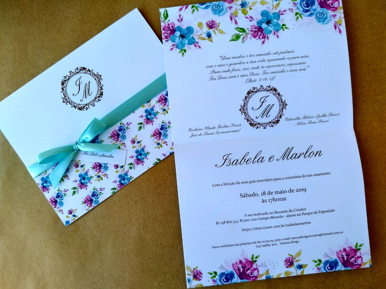 Convite Isabela e Marlon