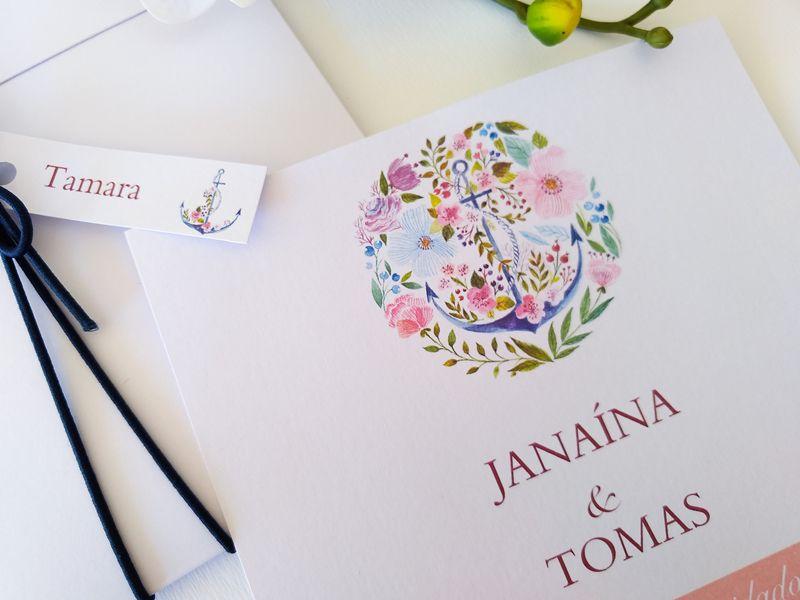 Convite Janaina e Tomas