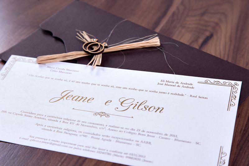 Convite Jeane e Gilson