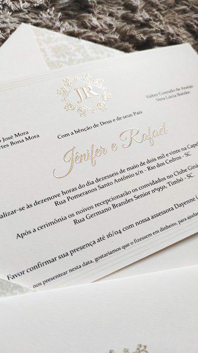 Convite Jênifer e Rafael