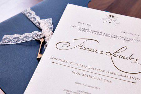 Convite Jéssica e Leandro