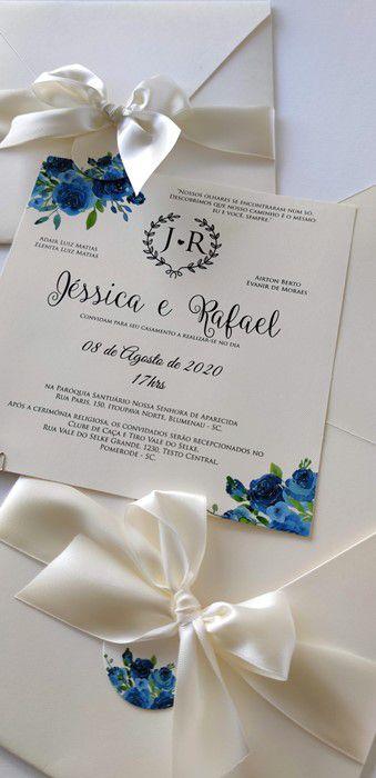 Convite Jéssica e Rafael