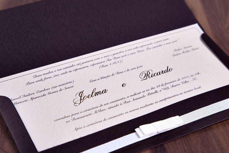 Convite Joelma e Ricardo