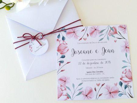 Convite Joseane e Jean