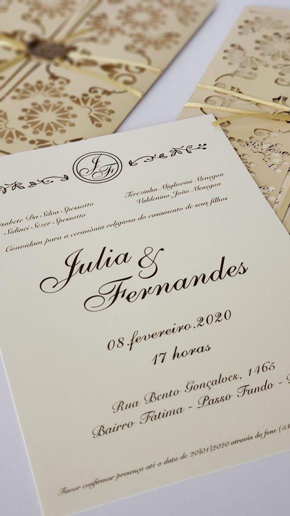 Convite Julia e Fernandes