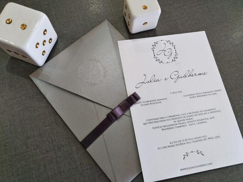 Convite Julia e Guilherme