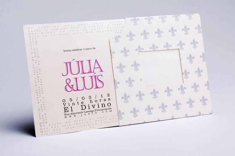 Convite Júlia e Luís