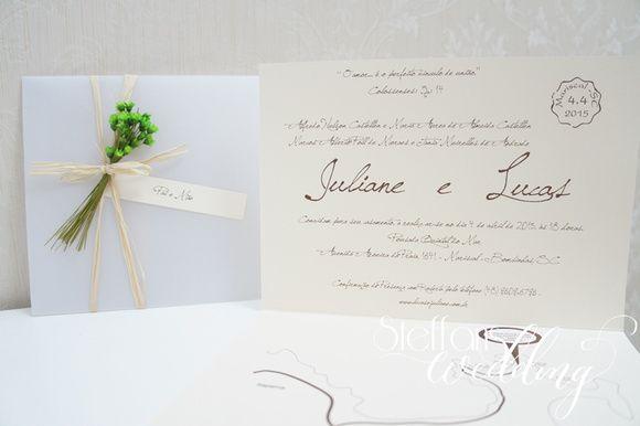 Convite Juliane e Lucas