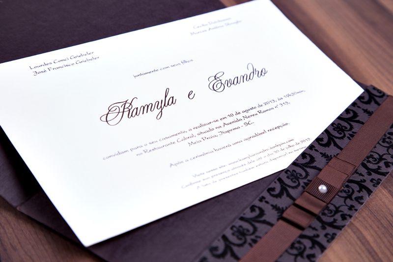 Convite Kamyla e Evandro