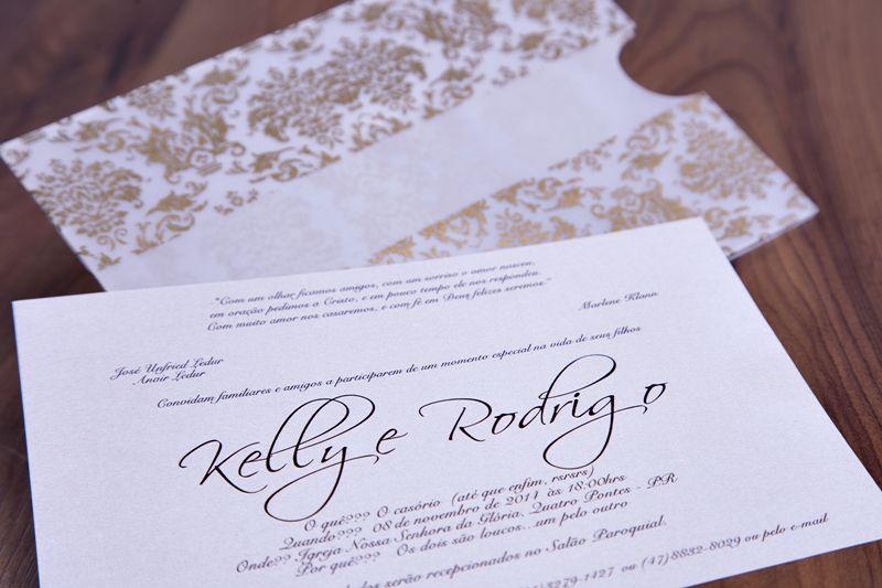 Convite Kelly e Rodrigo