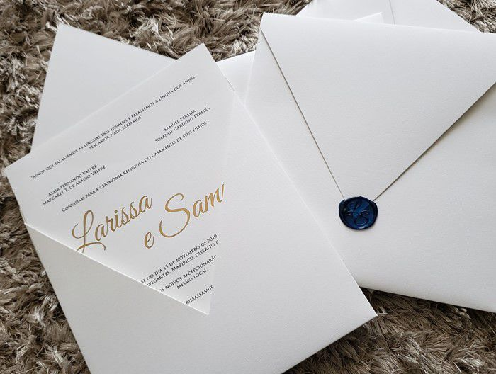 Convite Larissa e Samuel