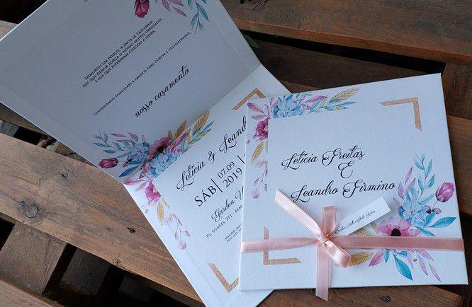 Convite Letícia e Leandro Firmino