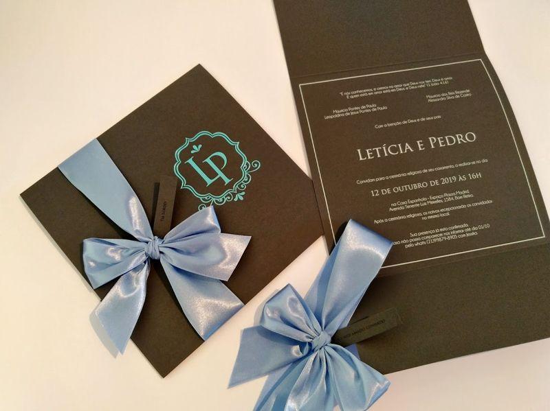 Convite Letícia e Pedro