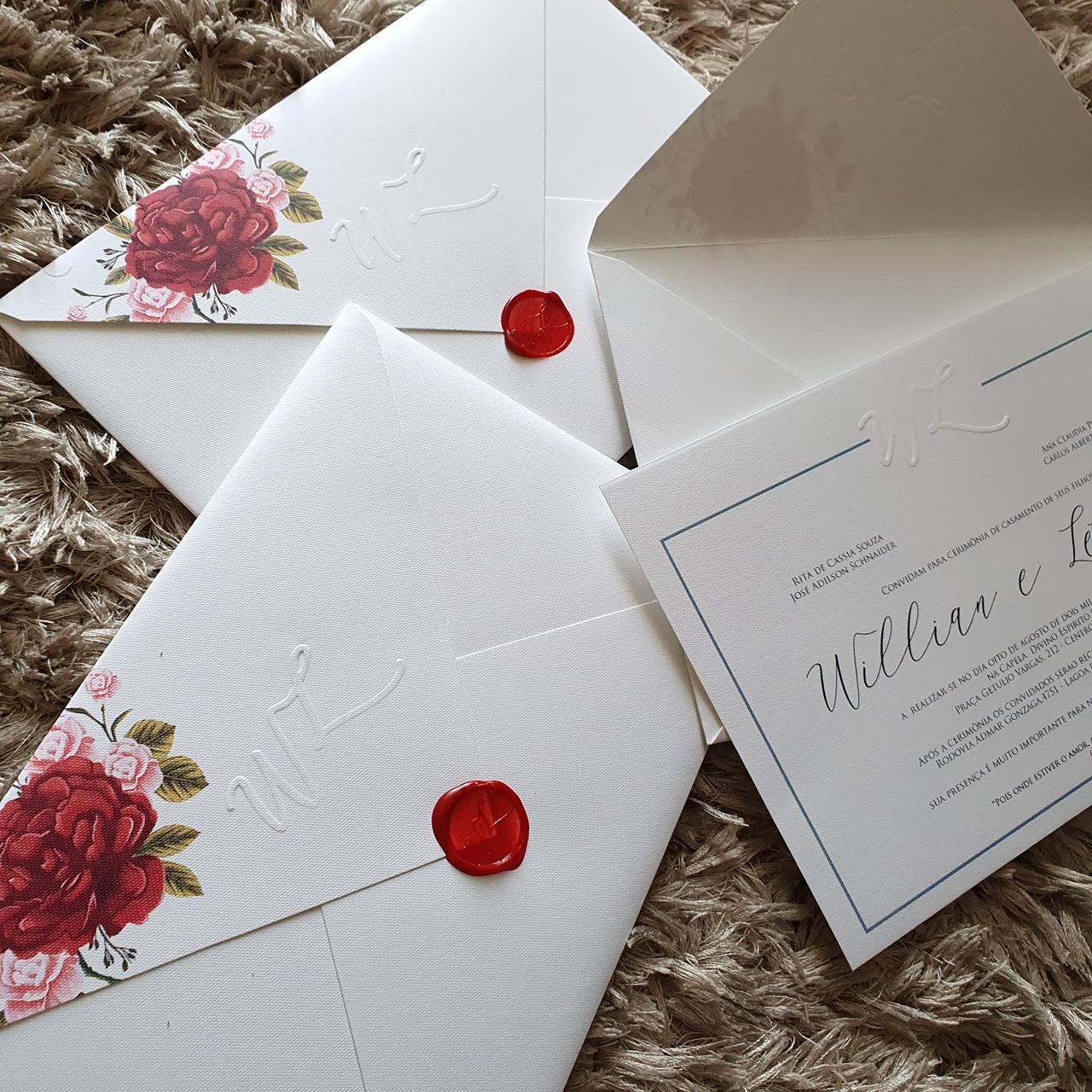 Convite Letícia e Willian