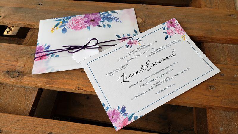 Convite Lívia e Emanuel