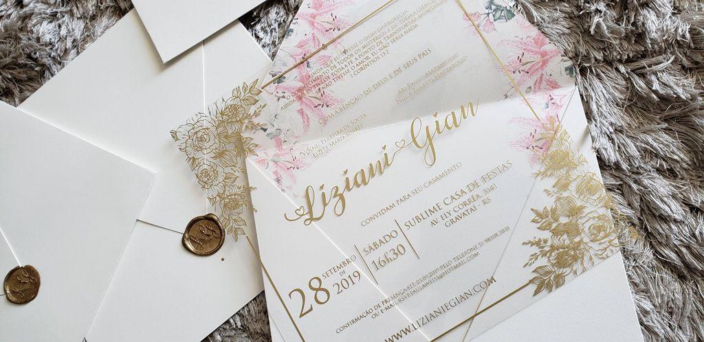 Convite Liziane e Gian