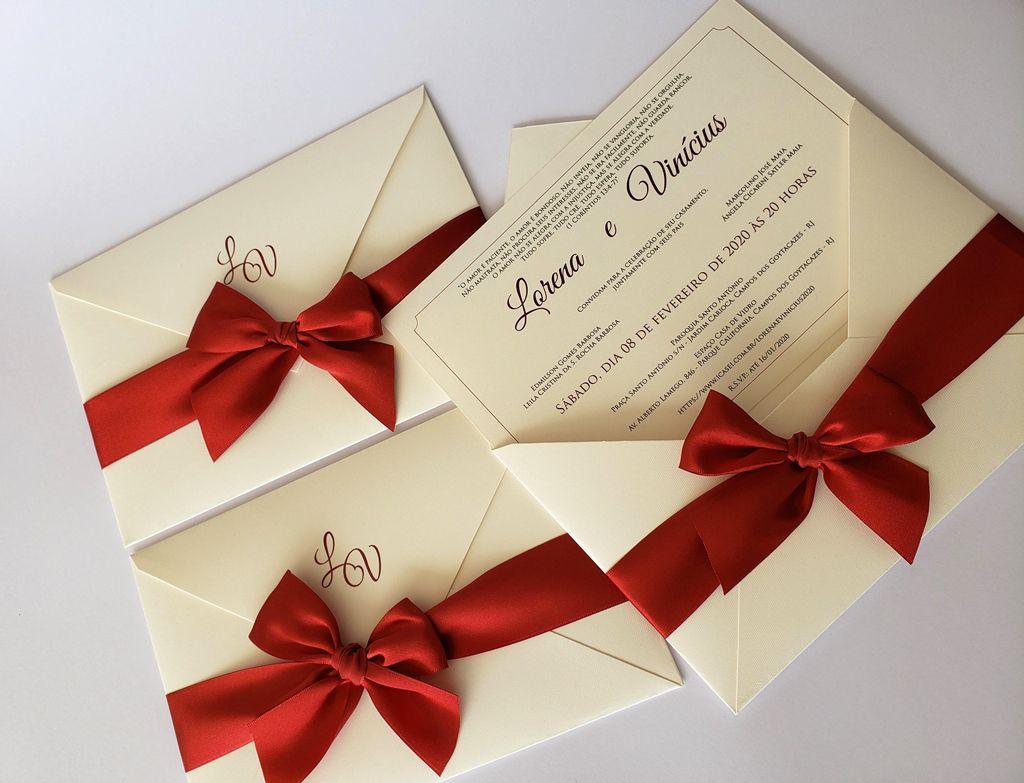 Convite Lorena e Vinícius