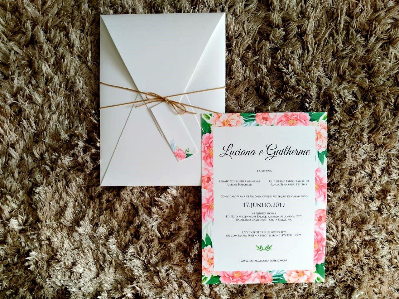 Convite Luciana e Guilherme