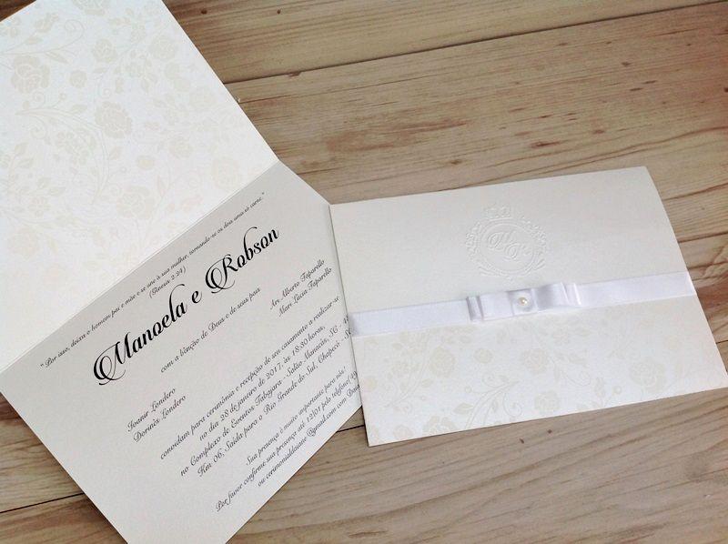Convite Manoela e Robson