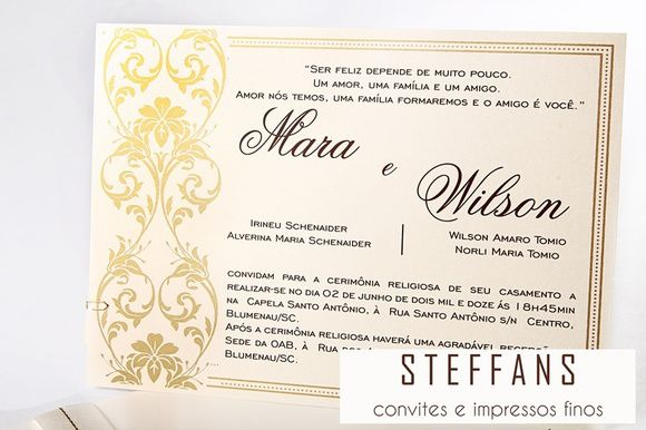 Convite Mara e Wilson