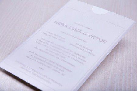 Convite Mari Luisa e Victor