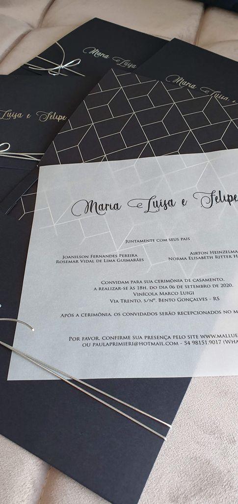 Convite Maria Luisa e Felipe