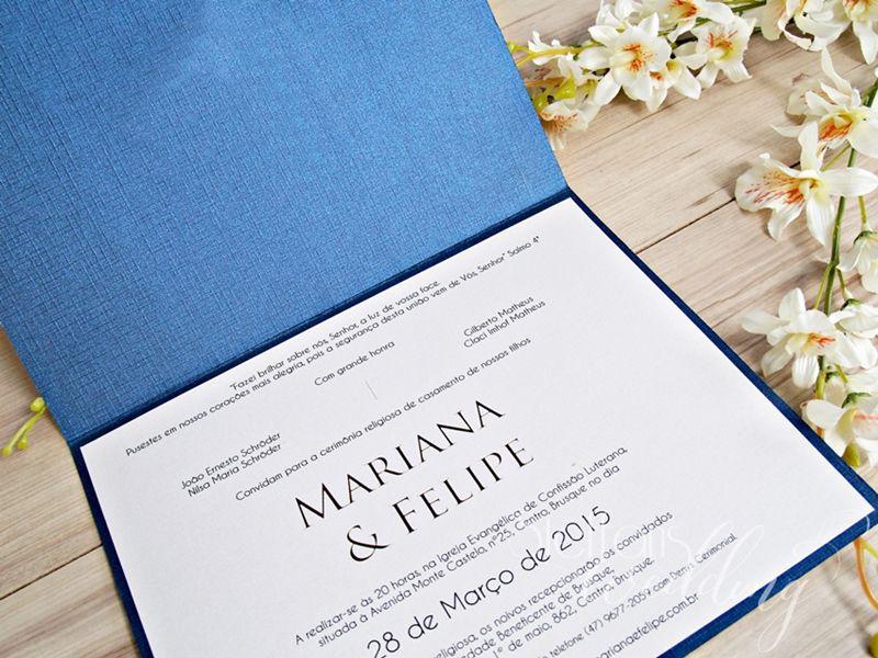 Convite Mariana e Felipe