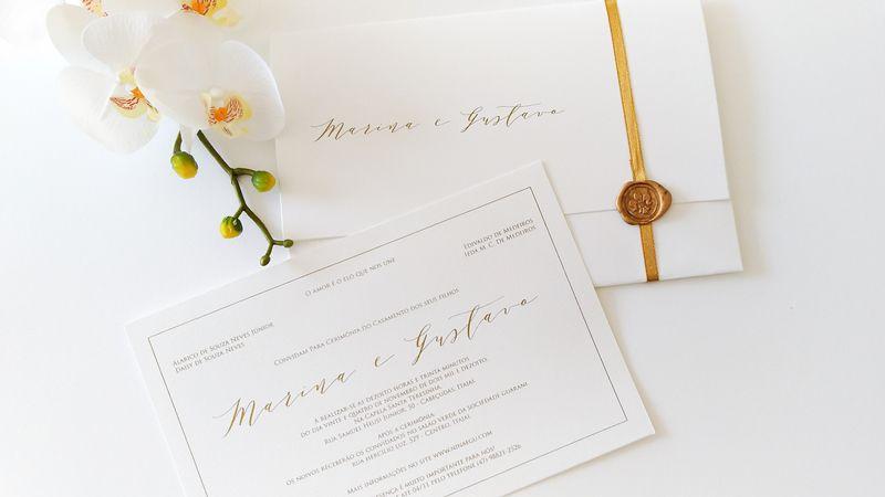 Convite Marina e Gustavo