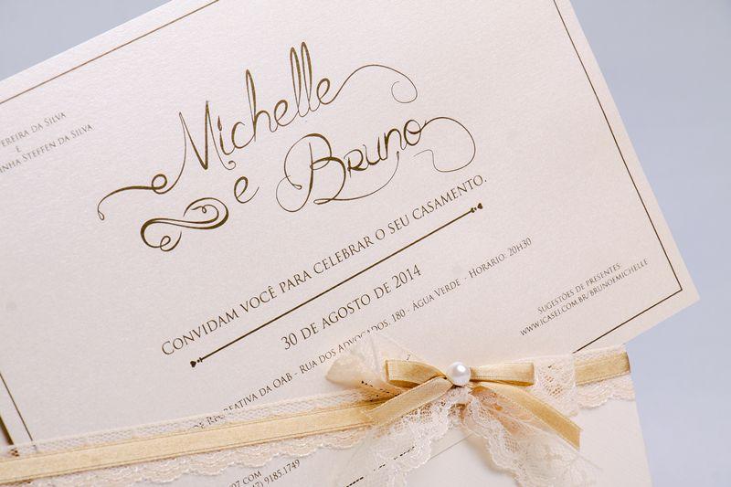 Convite Michelle e Bruno