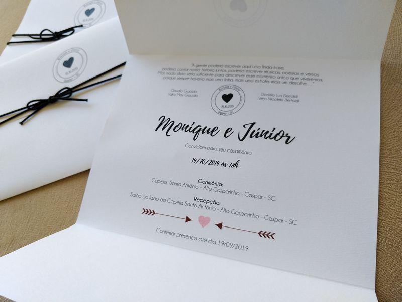 Convite Monique e Júnior