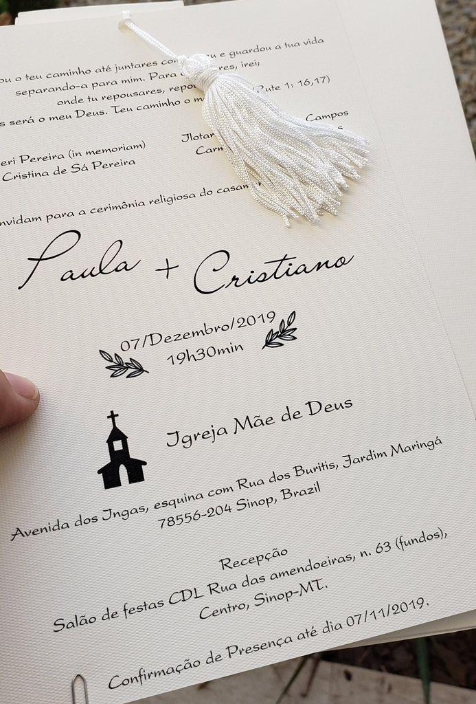 Convite Paula e Cristiano