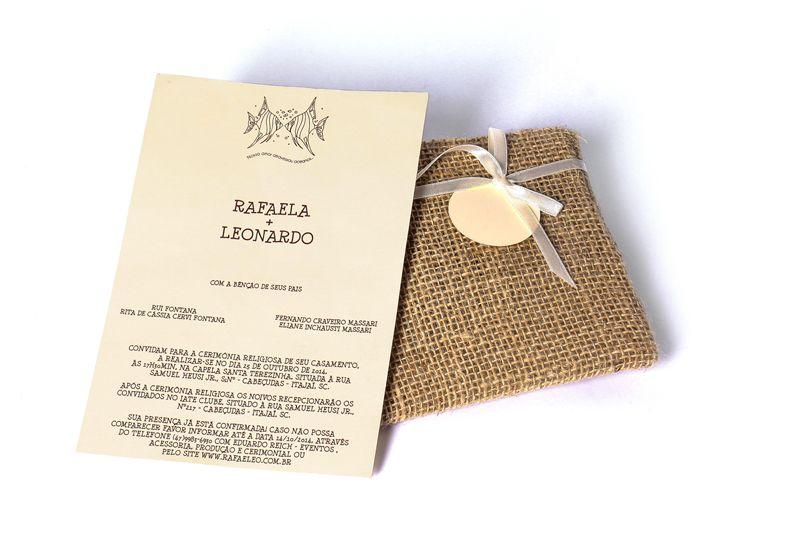 Convite Rafaela e Leonardo