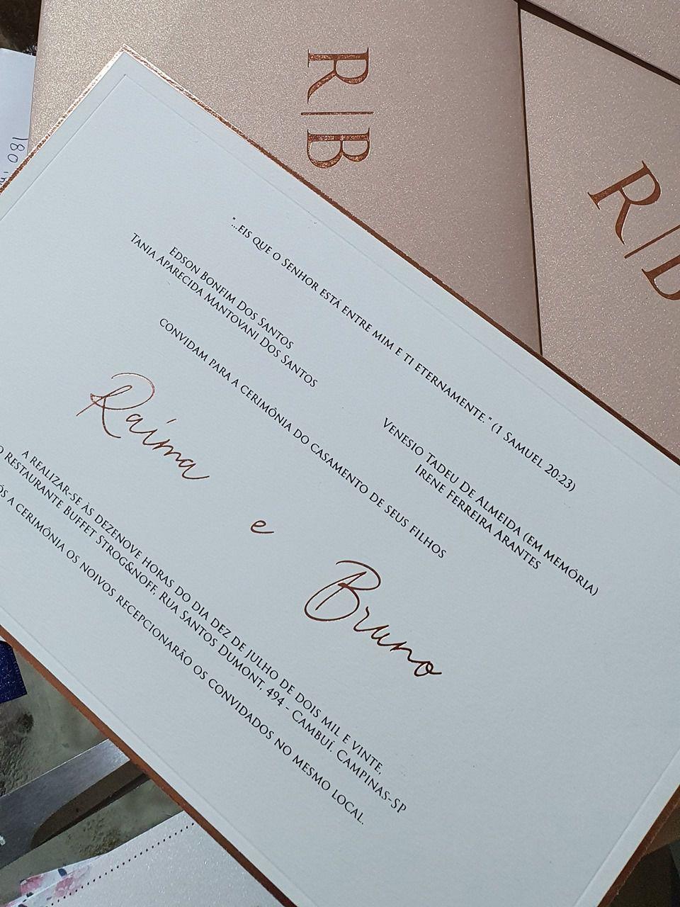 Convite Raíma e Bruno