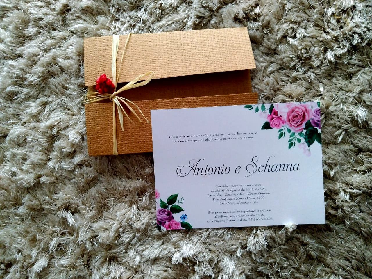 Convite Schanna e Antonio