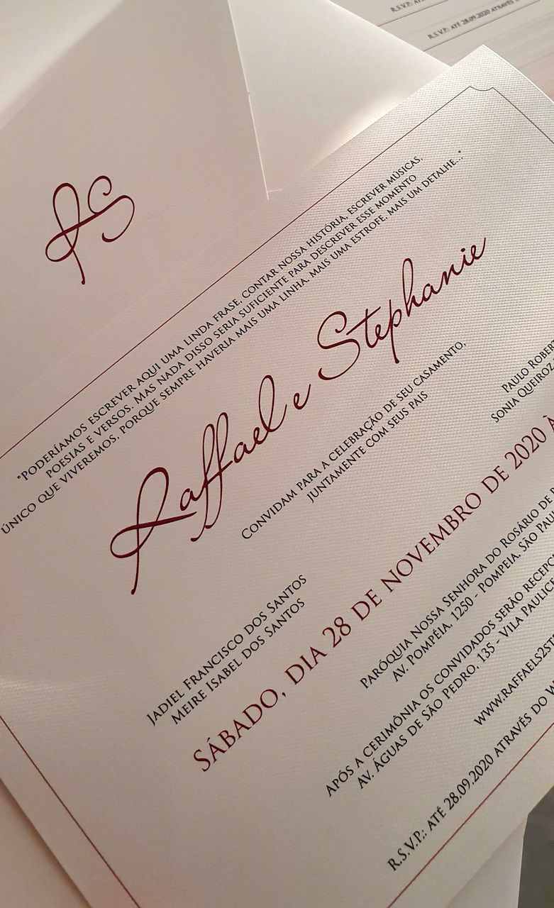 Convite Stephanie e Raffael