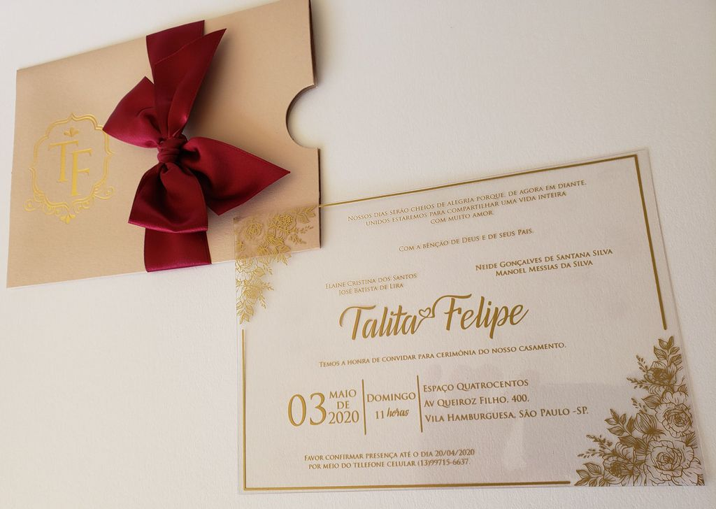 Convite Talita e Felipe