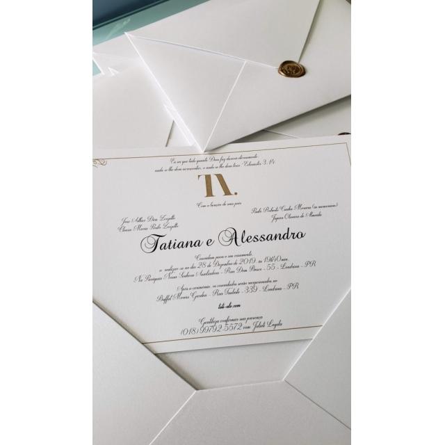 Convite Tatiana e Alessandro