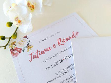 Convite Tatiana e Ricardo