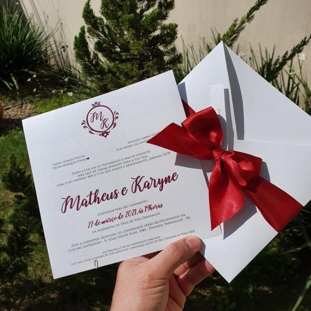 Convites Matheus e Karyne
