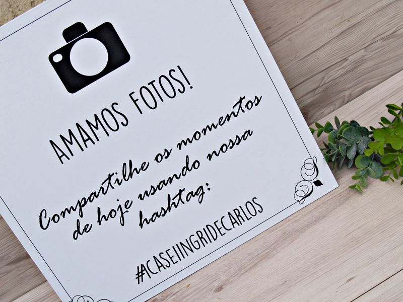 Placa Amamos Fotos