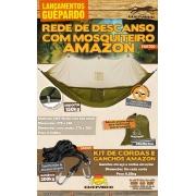 REDE DE DESCANSO COM MOSQUITEIRO VERDE AMAZON GUEPARDO